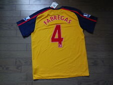 Arsenal #4 Cesc Fabregas 100% Original Jersey Shirt 2008/09 Away L Still BNWT