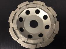 "4.5"" Double Row Diamond Cup Wheel 7/8"" Open Arbor Concrete"