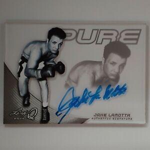 2014 LEAF Q Pure Glass Autograph #JLM Jake Lamotta Blue Auto.