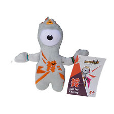 OLYMPICS London 2012 Wenlock Silver Orange Plush Toy Key Ring Memorabilia 12 cm