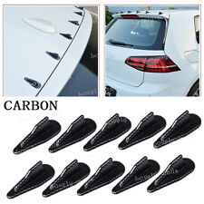 10pcs Carbon Universal Roof Shark Fins Spoiler Wing Vortex Generator Kits Set