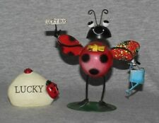 Ladybug Ladybird Lady Bug Bird Garden Stone Rock Decorative Ornaments  (set  2)