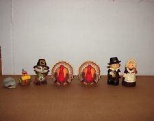 used Lot of Hallmark Merry Miniatures Thanksgiving Turkey Pilgrim Couple & more