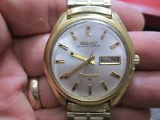SEIKO AUTOMATIC PRESMATIC 33J Running MENS DAY/DATE STAINLESS WRIST Watch