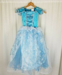 Rubies Periwinkle Blue Cold Princess Girls Elsa Costume Snowflakes Dress Youth M