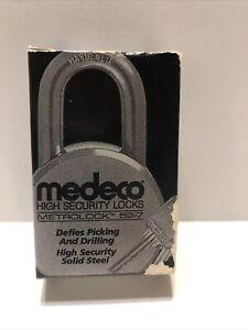 Medeco Padlock Metrolock 52-7 High security lock. Hardened. with 2 keys.