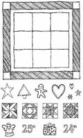 Grandma's Quilt Unmounted Rubber Stamp Set