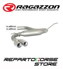 RAGAZZON SCARICO SDOPPIATO TERM.LI TONDI SFALSATI 2x80 VW GOLF VII 7 2.0TDi GTD