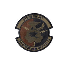 US Air Force 28th Operational Weather Squadron OCP Spice Brown Patch w/ Hook