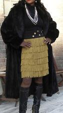 Elegant Female Dark brown almost Black Full length Dannish Mink Fur Coat XL-XXL
