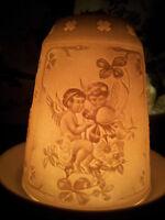 Großes XL BIG Porzellan Windlicht Engel Putten Dome Light Weihnachtsmotiv
