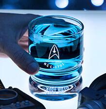 Star Trek Uss Enterprise Glasses Official Set 4 Etched Glassware Drinking Glass