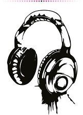 Headphones Wall Stickers Music DJ Art Next Decal for Bedroom Musician Stiker