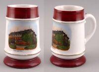 99848043 Porcellana Andenken-Bierkrug Alexanderbad a 1900 con Litofania su Fondo