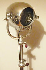 VINTAGE FILM MOVIE LIGHT ANTIQUE ART DECO SILVER ALESSI FLOOR LAMP EAMES THEATRE