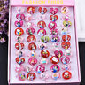 1/10 Pcs Lot Wholesale Mixed Lots Cute Cartoon Children/Kids Resin Rings Jewelry