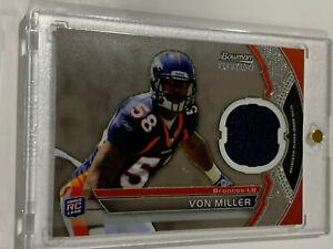 2012 Von  Miller Bowman Sterling Rookie Relic Card