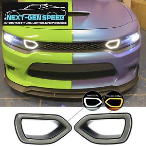 SRT Dodge Charger Grille Smoked LED Lighting Kit 2015 16 17 18 19 20 21 Scat Cat