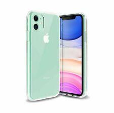 IPhone 11 caso claro Silicona Transparente. cubierta resistente armadura de absorción de choque