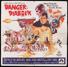 Danger DIABOLIK '68 Huge rare 6 Sheet poster Mario Bava Excellent Filmartgallery