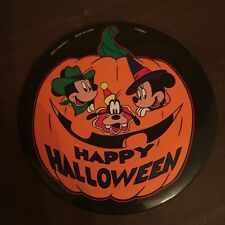 Disney Mickey Mouse Minnie Mouse and Goofy Happy Halloween Large Pinback