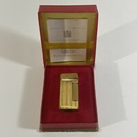 Vintage DUNHILL Gold London Rollalite Wick Lighter Switzerland With Box & Paper