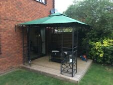 CANOPY ONLY for Homebase Lucca Patio Gazebo 3m x 3m - Green