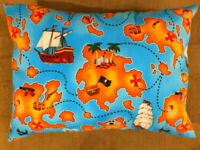 Homemade Envelope Style Travel Toddler  Pillowcase 12 x 16 Fishing Lures