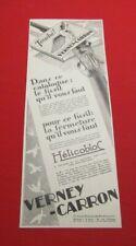 ADVERTISING PUB PUBLICITE ANCIENNE ADVERT 2.3 VERNEY CARRON HELICOBLOC 1926
