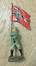WW2 Vintage Elastolin German Army Flag Bearer