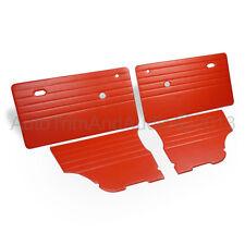 Classic Mini Door Cards (Monte-Carlo) - Red Vinyl/Red Stitching