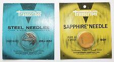 Vintage Transcriber Sapphire Steel Record Turntable Needles NIB