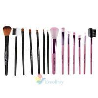 7 Pcs Makeup Set Powder Foundation Eyeshadow Eyeliner Lip Cosmetic Brushes A