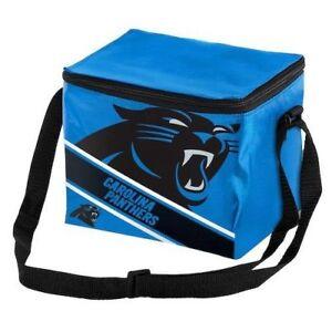 Carolina Panthers NFL Big Logo Stripe 12 pack Lunch Cooler Box Insulated