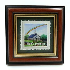 "God's Promise Framed Art Print 4.25"" Spirituality Hope Faith Living Branches"