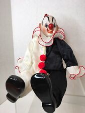 Vintage 1980's Dynasty Doll Porcelain Happy Clown Collection. Black And White