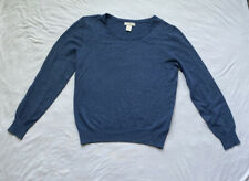 HM Style Women's Knit Long Sleeve Blue Sweater Size Small