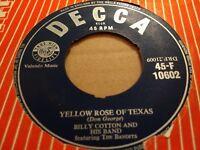 "BILLY COTTON "" YELLOW ROSE OF TEXAS "" 7"" SINGLE DECCA  45-F 10602 ( 1955 )"