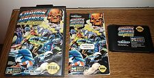 Captain America and the Avengers COMPLETE CIB Sega Genesis Tested Working Marvel