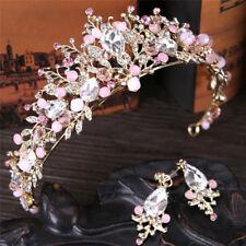 Pearl Bridal Crown Handmade Tiara Bride Headband Crystal Wedding Queen Crown;AU