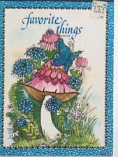 Vintage Stationery Mushroom Favorite Things Collection Montag Butterfly Floral