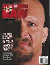 WWF Raw Magazine September / October 1997 WWE Steve Austin Sable Sunny Bret Hart