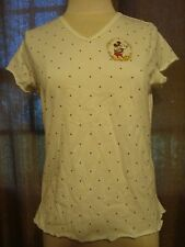NWOT Disney Mickey Mouse Pajama Top Large Short Sleeve V Neck Polka Dots Sz. Sm