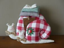 Handmade Fabric 2 Snail's Perfect For Home Decoration Shabby Tilda Gift Idea A