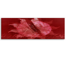 Leinwandbild Panorama rot rosa weiß Paul Sinus Abstrakt_769_150x50cm