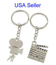 Clapboard Keychain and Film Camera Key Chain sold as a set - USA Seller