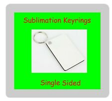 More details for 50 x sublimation keyrings rectangle 6cm x 4cm single sided