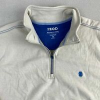 Izod Advantage Performance Jacket Mens 2XL Tan Quarter Zip Stretch Insulated