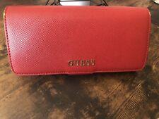 GUESS Geldbörse Portemonnaie Rot Damen Gebraucht
