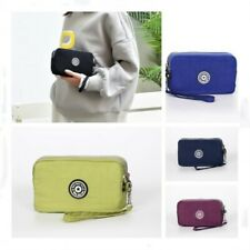 Small Clutch Bag Handbag Multi Compartment Pocket Cross Body Purse W/Wrist Strap